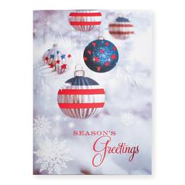Stars & Stripes Ornaments Deluxe Greeting Card