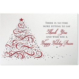 Starry Tree Deluxe Holiday Card