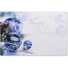 Sapphire Christmas Deluxe Greeting Card