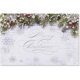 Snowy Sentiment Deluxe Greeting Card