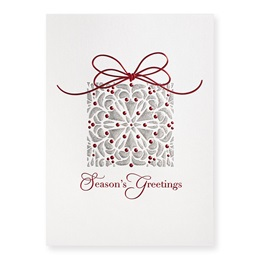 Festive Package Deluxe Holiday Card