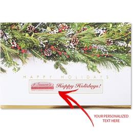 Festive Garland Deluxe Holiday Card