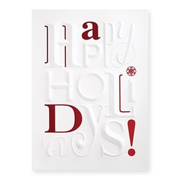 Embossed Holidays Deluxe Holiday Card