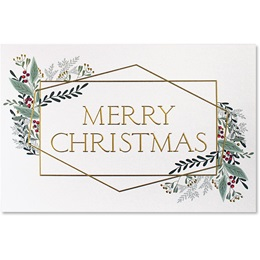Merry Christmas Lines Deluxe Holiday Card