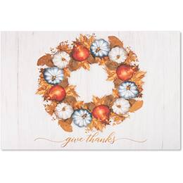 Thankful Greetings Deluxe Holiday Card