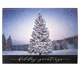 Tree Aglow Deluxe Holiday Card