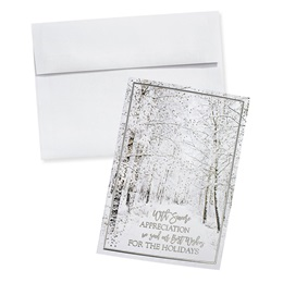 Frosted Appreciation Deluxe Holiday Card