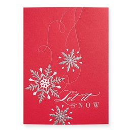 Falling Snow Deluxe Holiday Card