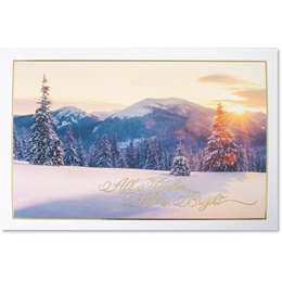 Heavenly Site Deluxe Holiday Card