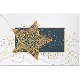 Holiday Starlight Deluxe Holiday Card