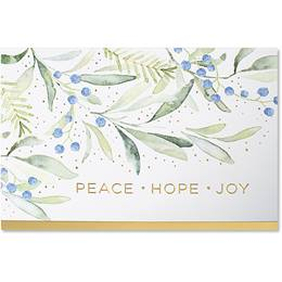 Watercolor Peace Deluxe Holiday Card