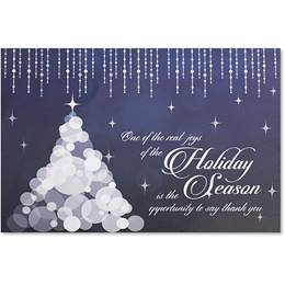 Dripping Holiday Icicles Deluxe Holiday Card