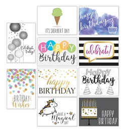 Modern Birthday Greeting Card Assortment