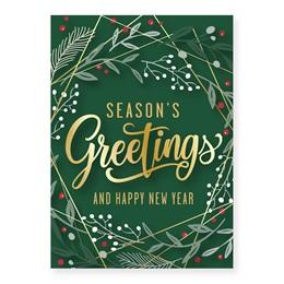 Geometric Seasons Holiday Greeting Cards