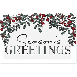 Berry Seasons Holiday Greeting Cards