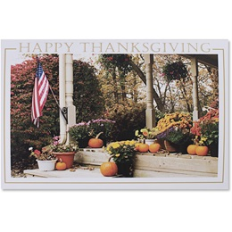 Patriotic Porch Deluxe Holiday Card