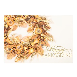 Colors of Autumn Wreath Deluxe Holiday Card
