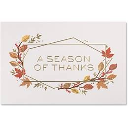 Geometric Thanksgiving Deluxe Holiday Card