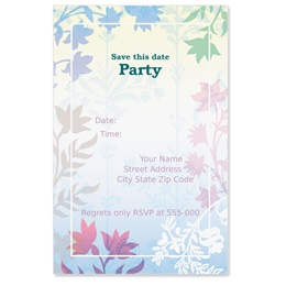 Fresh Petals Casual Invitations