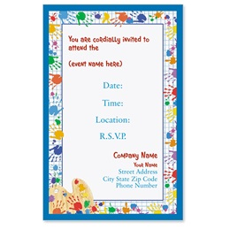 Hand Prints Casual Invitations