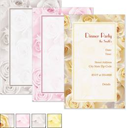 Cream Roses Casual Invitations