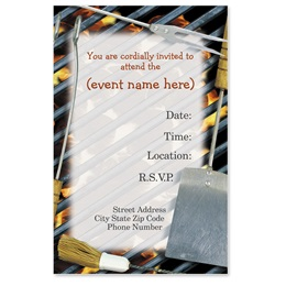 Barbeque Casual Invitations