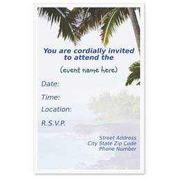 Island Tropics Casual Invitations