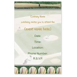 Slugger Casual Invitations