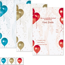 Gold Balloons Casual Invitations