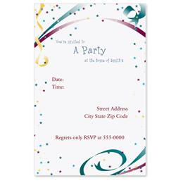 Fiesta II Casual Invitations