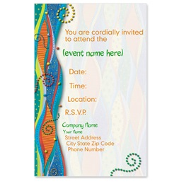 Bright Streamers Casual Invitations
