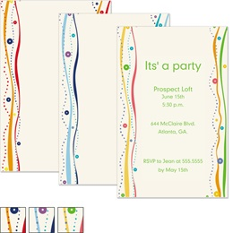 Party Sparkle Casual Invitations