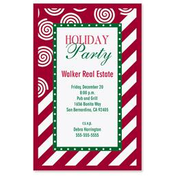 Candy Cane Lane Casual Invitations