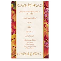 Autumn's Vineyard Casual Invitations