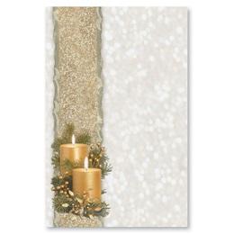 Golden Glimmer Casual Invitations