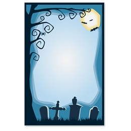 Haunted Cemetery Casual Invitations