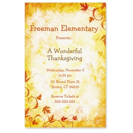 Autumn Etching Casual Invitations