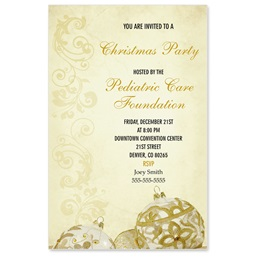 Golden Filigree Casual Invitations