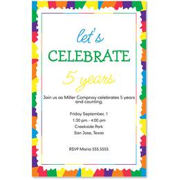 Confetti Casual Invitations