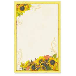Golden Sunflowers Casual Invitations