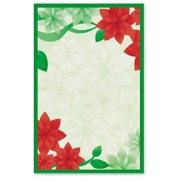 Poinsettia Petals Casual Invitations