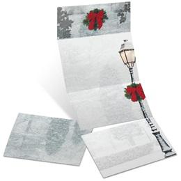 Peaceful Snowfall Fold-Up Invitations