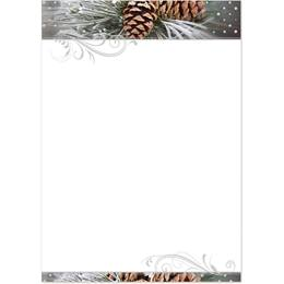 Snowy Pinecones Specialty Flat Invitations