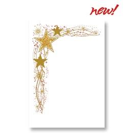 Glitter Stars Specialty Flat Invitation