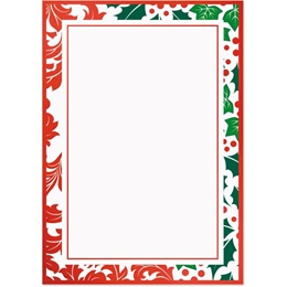 Jolly Holly Specialty Flat Invitations