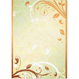 Enchanted Garden Foil Specialty Flat Invitations