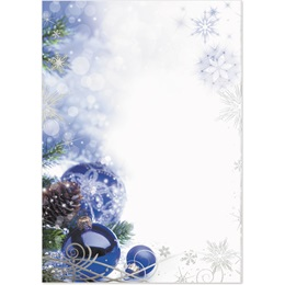Sapphire Christmas Specialty Flat Invitations