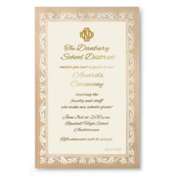 Adornment Gold Specialty Flat Invitations