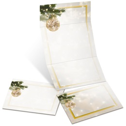 Golden Glitz Fold-Up Invitations