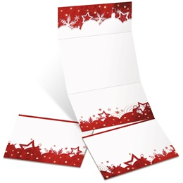 Red Gala Fold-Up Invitations